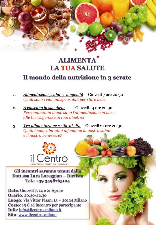 Incontri Alimentazione E Salute Il Centro Milano